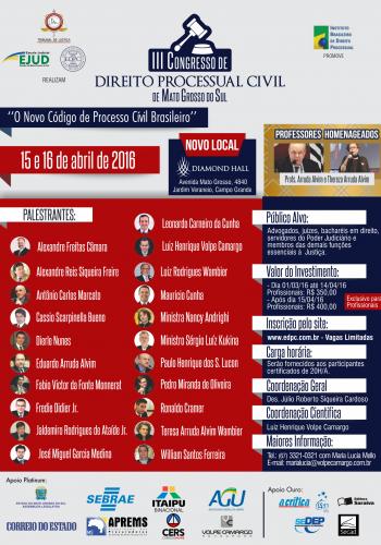 III Congresso - Novo Local - Frente